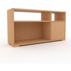 Bücherregal Buche - Modernes Regal für Bücher: Türen in Buche - 116 x 62 x 35 cm, Individuell konfigurierbar