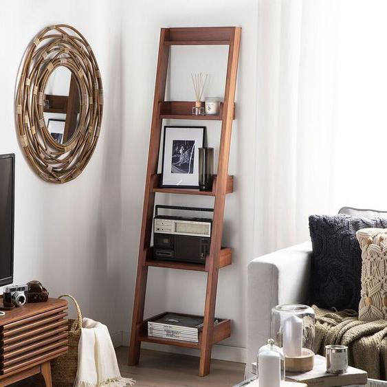 Bücherregal dunkler Holzfarbton MOBILE DUO