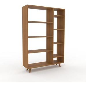 Bücherregal Eiche, Holz - Modernes Regal für Bücher: Hochwertige Qualität, einzigartiges Design - 116 x 168 x 35 cm, konfigurierbar