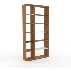 Bücherregal Eiche, Holz - Modernes Regal für Bücher: Hochwertige Qualität, einzigartiges Design - 116 x 233 x 35 cm, konfigurierbar
