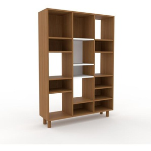 Bücherregal Eiche, Holz - Modernes Regal für Bücher: Hochwertige Qualität, einzigartiges Design - 118 x 168 x 35 cm, konfigurierbar