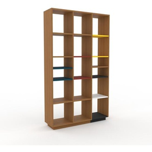 Bücherregal Eiche, Holz - Modernes Regal für Bücher: Hochwertige Qualität, einzigartiges Design - 118 x 200 x 35 cm, konfigurierbar