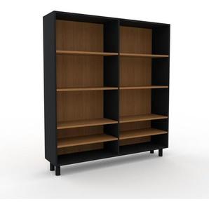 Bücherregal Schwarz - Modernes Regal für Bücher: Hochwertige Qualität, einzigartiges Design - 152 x 168 x 35 cm, Individuell konfigurierbar