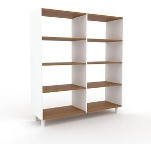 Bücherregal Weiß - Modernes Regal für Bücher: Hochwertige Qualität, einzigartiges Design - 152 x 168 x 47 cm, Individuell konfigurierbar