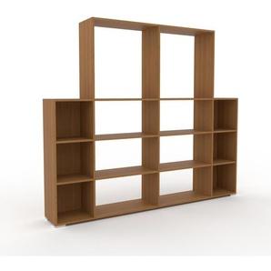 Bücherregal Eiche, Holz - Modernes Regal für Bücher: Hochwertige Qualität, einzigartiges Design - 229 x 196 x 35 cm, konfigurierbar