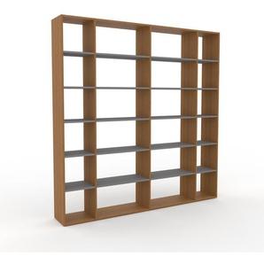 Bücherregal Eiche, Holz - Modernes Regal für Bücher: Hochwertige Qualität, einzigartiges Design - 229 x 233 x 35 cm, konfigurierbar