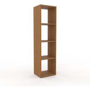 Bücherregal Eiche, Holz - Modernes Regal für Bücher: Hochwertige Qualität, einzigartiges Design - 41 x 157 x 35 cm, konfigurierbar