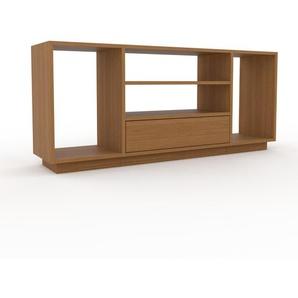 Bücherregal Eiche - Modernes Regal für Bücher: Schubladen in Eiche - 154 x 66 x 35 cm, Individuell konfigurierbar