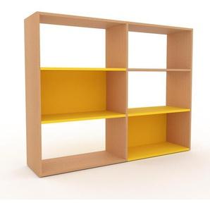 Bücherregal Buche, Holz - Modernes Regal für Bücher: Hochwertige Qualität, einzigartiges Design - 152 x 118 x 35 cm, konfigurierbar