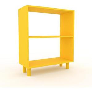 Bücherregal Gelb - Modernes Regal für Bücher: Hochwertige Qualität, einzigartiges Design - 77 x 91 x 35 cm, Individuell konfigurierbar