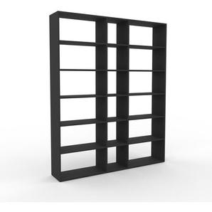 Bücherregal Anthrazit - Modernes Regal für Bücher: Hochwertige Qualität, einzigartiges Design - 190 x 233 x 35 cm, Individuell konfigurierbar