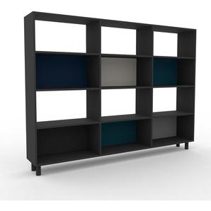 Bücherregal Anthrazit - Modernes Regal für Bücher: Hochwertige Qualität, einzigartiges Design - 226 x 168 x 35 cm, Individuell konfigurierbar