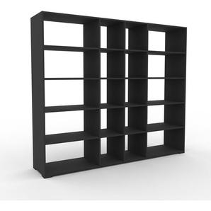 Bücherregal Anthrazit - Modernes Regal für Bücher: Hochwertige Qualität, einzigartiges Design - 229 x 196 x 47 cm, Individuell konfigurierbar
