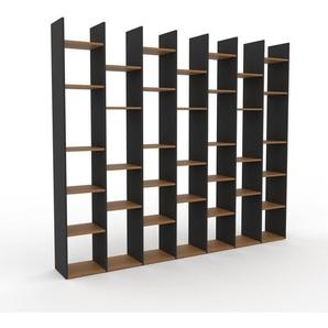 Bücherregal Anthrazit - Modernes Regal für Bücher: Hochwertige Qualität, einzigartiges Design - 272 x 233 x 35 cm, Individuell konfigurierbar