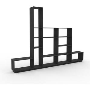 Bücherregal Anthrazit - Modernes Regal für Bücher: Hochwertige Qualität, einzigartiges Design - 339 x 239 x 35 cm, Individuell konfigurierbar