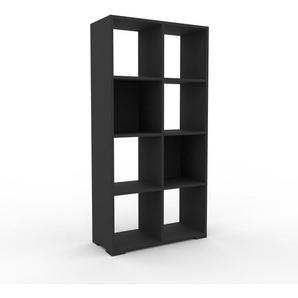 Bücherregal Anthrazit - Modernes Regal für Bücher: Hochwertige Qualität, einzigartiges Design - 79 x 158 x 35 cm, Individuell konfigurierbar