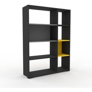 Bücherregal Anthrazit - Modernes Regal für Bücher: Hochwertige Qualität, einzigartiges Design - 116 x 158 x 35 cm, Individuell konfigurierbar