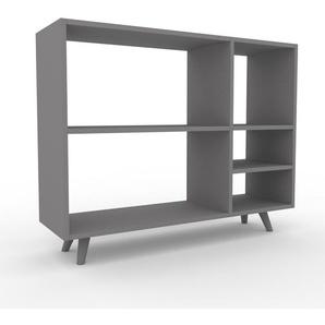 Bücherregal Grau - Modernes Regal für Bücher: Hochwertige Qualität, einzigartiges Design - 116 x 91 x 35 cm, Individuell konfigurierbar