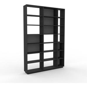 Bücherregal Anthrazit - Modernes Regal für Bücher: Hochwertige Qualität, einzigartiges Design - 190 x 277 x 35 cm, Individuell konfigurierbar
