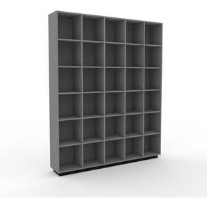 Bücherregal Grau - Modernes Regal für Bücher: Hochwertige Qualität, einzigartiges Design - 195 x 239 x 35 cm, Individuell konfigurierbar