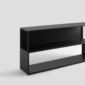 Bücherregal HYLLER SIDE METAL 150x75 - schwarz