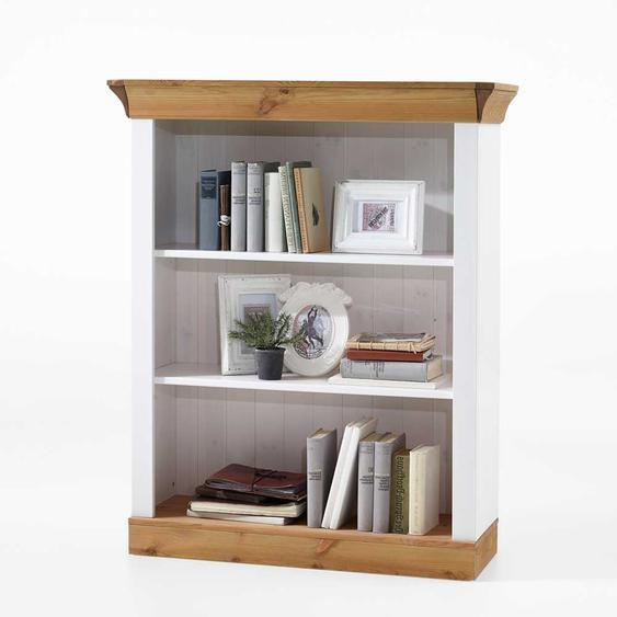 Bücherregal in Weiß Kiefer gelaugt Landhausstil