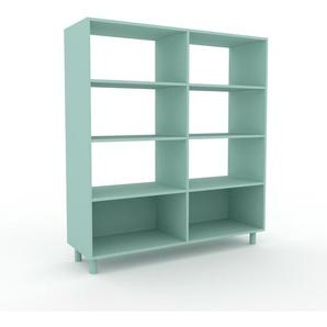 Bücherregal Seegrün - Modernes Regal für Bücher: Hochwertige Qualität, einzigartiges Design - 152 x 168 x 47 cm, Individuell konfigurierbar