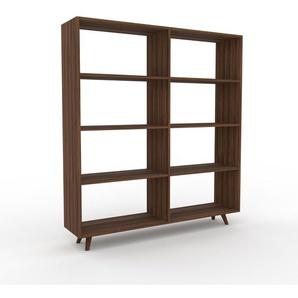 Bücherregal Nussbaum, Holz - Modernes Regal für Bücher: Hochwertige Qualität, einzigartiges Design - 152 x 168 x 35 cm, konfigurierbar