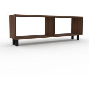 Bücherregal Nussbaum, Holz - Modernes Regal für Bücher: Hochwertige Qualität, einzigartiges Design - 152 x 53 x 35 cm, konfigurierbar