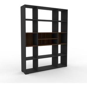 Bücherregal Anthrazit - Modernes Regal für Bücher: Hochwertige Qualität, einzigartiges Design - 154 x 196 x 35 cm, Individuell konfigurierbar