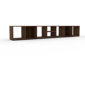 Bücherregal Nussbaum, Holz - Modernes Regal für Bücher: Hochwertige Qualität, einzigartiges Design - 272 x 43 x 35 cm, konfigurierbar