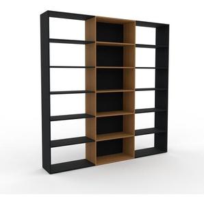 Bücherregal Schwarz - Modernes Regal für Bücher: Hochwertige Qualität, einzigartiges Design - 226 x 233 x 35 cm, Individuell konfigurierbar