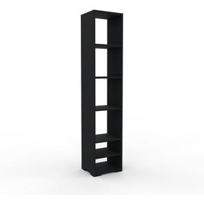Bücherregal Schwarz - Modernes Regal für Bücher: Hochwertige Qualität, einzigartiges Design - 41 x 196 x 35 cm, Individuell konfigurierbar
