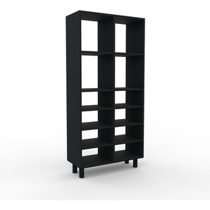Bücherregal Schwarz - Modernes Regal für Bücher: Hochwertige Qualität, einzigartiges Design - 79 x 168 x 35 cm, Individuell konfigurierbar