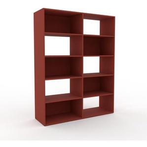 Bücherregal Burgundrot - Modernes Regal für Bücher: Hochwertige Qualität, einzigartiges Design - 152 x 195 x 47 cm, Individuell konfigurierbar