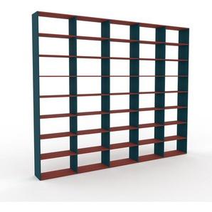 Bücherregal Blau - Modernes Regal für Bücher: Hochwertige Qualität, einzigartiges Design - 375 x 310 x 35 cm, Individuell konfigurierbar