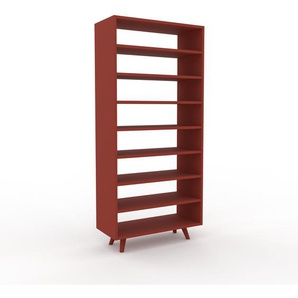Bücherregal Rot - Modernes Regal für Bücher: Hochwertige Qualität, einzigartiges Design - 77 x 168 x 35 cm, Individuell konfigurierbar