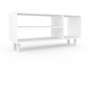 Bücherregal Weiß - Modernes Regal für Bücher: Hochwertige Qualität, einzigartiges Design - 116 x 53 x 35 cm, Individuell konfigurierbar