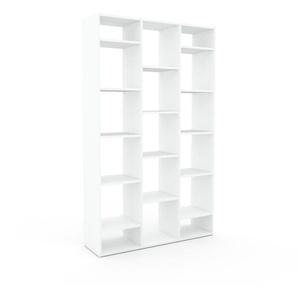 Bücherregal Weiß - Modernes Regal für Bücher: Hochwertige Qualität, einzigartiges Design - 118 x 195 x 35 cm, Individuell konfigurierbar