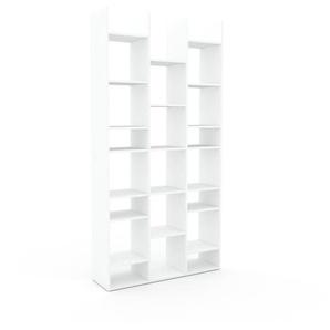 Bücherregal Weiß - Modernes Regal für Bücher: Hochwertige Qualität, einzigartiges Design - 118 x 233 x 35 cm, Individuell konfigurierbar
