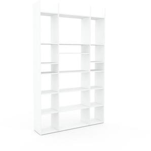 Bücherregal Weiß - Modernes Regal für Bücher: Hochwertige Qualität, einzigartiges Design - 154 x 253 x 35 cm, Individuell konfigurierbar