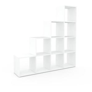 Bücherregal Weiß - Modernes Regal für Bücher: Hochwertige Qualität, einzigartiges Design - 156 x 157 x 35 cm, Individuell konfigurierbar