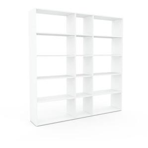 Bücherregal Weiß - Modernes Regal für Bücher: Hochwertige Qualität, einzigartiges Design - 190 x 195 x 35 cm, Individuell konfigurierbar