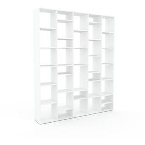 Bücherregal Weiß - Modernes Regal für Bücher: Hochwertige Qualität, einzigartiges Design - 195 x 233 x 35 cm, Individuell konfigurierbar