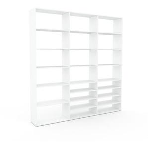 Bücherregal Weiß - Modernes Regal für Bücher: Hochwertige Qualität, einzigartiges Design - 226 x 233 x 35 cm, Individuell konfigurierbar