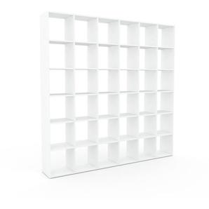 Bücherregal Weiß - Modernes Regal für Bücher: Hochwertige Qualität, einzigartiges Design - 233 x 233 x 35 cm, Individuell konfigurierbar