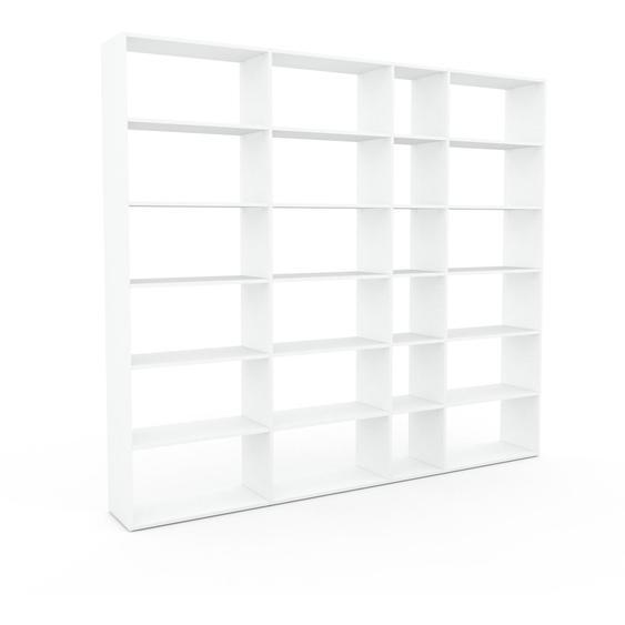 Bücherregal Weiß - Modernes Regal für Bücher: Hochwertige Qualität, einzigartiges Design - 265 x 233 x 35 cm, Individuell konfigurierbar
