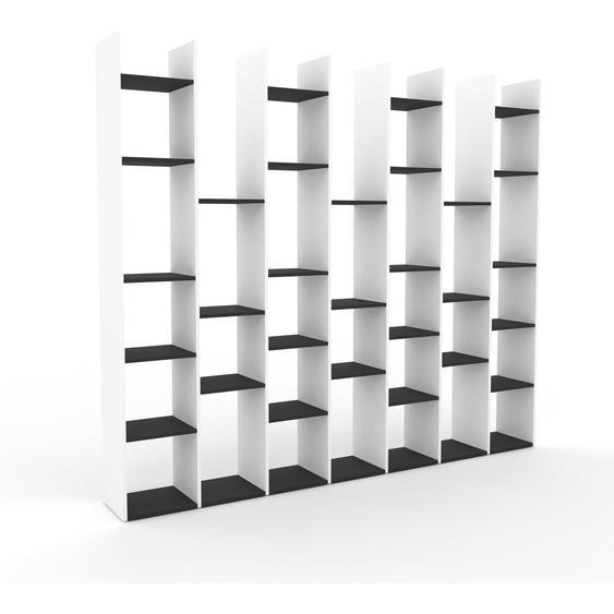 Bücherregal Weiß - Modernes Regal für Bücher: Hochwertige Qualität, einzigartiges Design - 272 x 233 x 35 cm, Individuell konfigurierbar