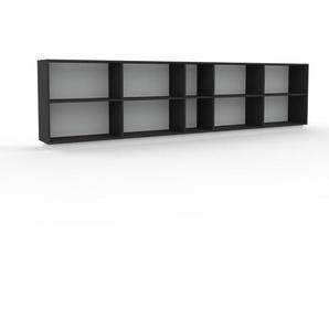 Bücherregal Anthrazit - Modernes Regal für Bücher: Hochwertige Qualität, einzigartiges Design - 339 x 85 x 35 cm, Individuell konfigurierbar