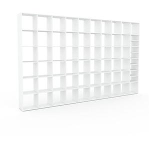 Bücherregal Weiß - Modernes Regal für Bücher: Hochwertige Qualität, einzigartiges Design - 387 x 233 x 35 cm, Individuell konfigurierbar